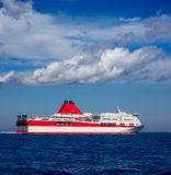 Mediterranean sea curise boat in red Royalty Free Stock Photo