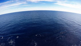 Mediterranean sea from the deck of a ship stock video