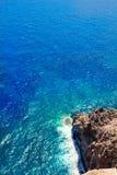 Mediterranean sea foam rocky shore Stock Photo