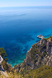 Mediterranean sea in Greece Royalty Free Stock Images