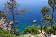 Mediterranean sea in Greece Royalty Free Stock Photography