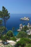 Mediterranean sea in Greece Royalty Free Stock Photos