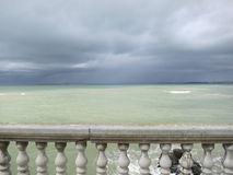 Mediterranean Sea in green and gray Stock Images