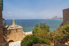 Mediterranean Sea from a height of Old Jaffa, Tel Aviv, Israel Royalty Free Stock Images
