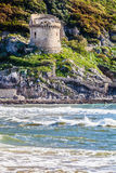 Mediterranean Sea and historic sixteenth century tower Stock Photo