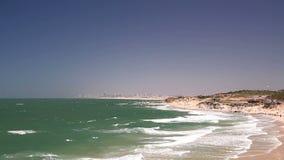 Mediterranean sea in Israel . stock video footage