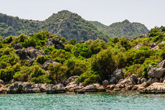 Mediterranean Sea. Kekova Bay Royalty Free Stock Photos