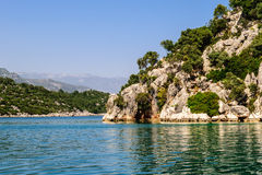 Mediterranean Sea. Kekova Bay Stock Photos