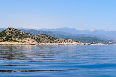 Mediterranean Sea. Kekova Bay Royalty Free Stock Images