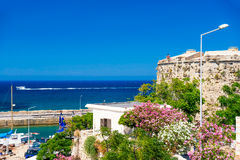 Mediterranean sea and Kyrenia Castle Royalty Free Stock Photography