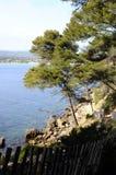 Sea landscape near Bandol, France. Mediterranean sea landscape in south france, near Bandol Stock Photography