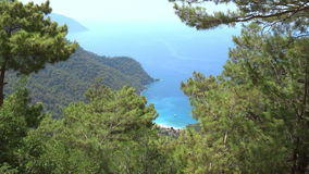 Mediterranean sea landscape view of coast and mountains stock video