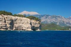 Mediterranean sea landscape view mountains Kemer, Turkey Stock Photos