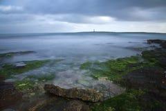 Mediterranean sea long exposure  . Minorca,Spain Stock Photo