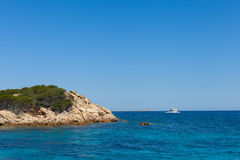 Mediterranean sea at Maddalena archipelago, Sardinia , Italy. Stock Images
