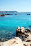 Mediterranean sea at Maddalena archipelago, Sardinia , Italy. Royalty Free Stock Images