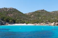 Mediterranean sea at Maddalena archipelago, Sardinia , Italy. Stock Photos
