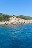 Mediterranean sea at Maddalena archipelago, Sardinia , Italy. Royalty Free Stock Photography