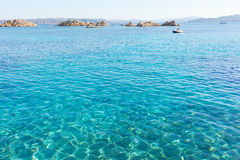 Mediterranean sea at Maddalena archipelago, Sardinia , Italy. Stock Photography