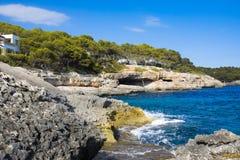 Mediterranean Sea. Mallorca, Cala Dor, Spain Royalty Free Stock Photos