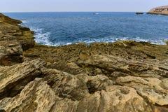 Mediterranean sea, Malta. Dwajra Bay, on the coast of Gozo, Malta Stock Images