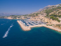 Mediterranean sea marina. Spain, Costa Blanca Royalty Free Stock Images