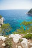 Mediterranean sea from Menorca cliff Stock Photography