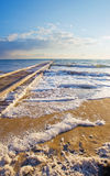 Mediterranean sea in the morning in October. Royalty Free Stock Photography