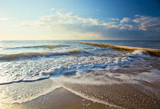 Mediterranean sea in the morning in October. Royalty Free Stock Photos