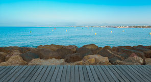 Mediterranean Sea nature background Royalty Free Stock Photo