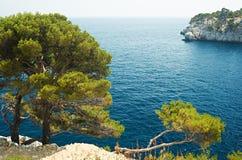 Mediterranean sea near Cassis Stock Photo