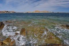 Mediterranean sea near the Corsican coast Stock Photos
