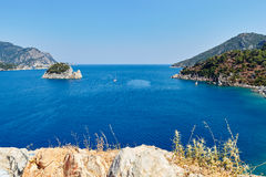 Mediterranean Sea near Marmaris Turkey. Mediterranean Sea near Marmaris. Turkey Royalty Free Stock Photography