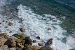 Mediterranean Sea near Varigotti Royalty Free Stock Photography