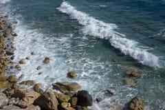 Mediterranean Sea near Varigotti Royalty Free Stock Images