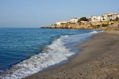 Mediterranean Sea, Nerja. Mediterranean Sea, beach in Nerja, Spain Royalty Free Stock Photo