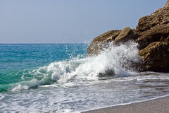 Mediterranean sea in Nerja Stock Photo