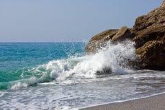 Mediterranean sea in Nerja. Spain Stock Photo