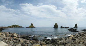 Mediterranean Sea (Panorama), Sicily, southern Italy Royalty Free Stock Photos