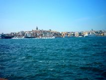 In the Mediterranean Sea port. A wonderful view of the Mediterranean port Royalty Free Stock Image
