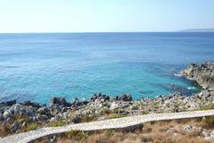 Mediterranean sea,puglia` `s sea stock photo