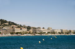 Mediterranean Sea resort panorama Cannes France Stock Images