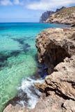 Mediterranean sea and rocky coast of Spain Stock Photography