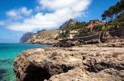 Mediterranean sea and rocky coast of Spain Mallorca island Royalty Free Stock Photos