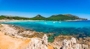 Mediterranean Sea Spain Majorca beach Cala Agulla Royalty Free Stock Image