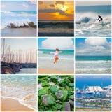 Mediterranean Sea square collage Stock Photo