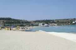 Mediterranean sea. At summer day. Mellieha, Malta Island, Europe Royalty Free Stock Photo