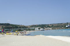 Mediterranean sea. At summer day. Mellieha, Malta Island, Europe Royalty Free Stock Photography