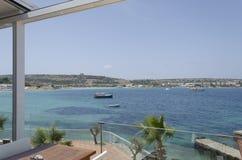 Mediterranean sea. At summer day. Mellieha, Malta Island, Europe Royalty Free Stock Photos