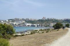 Mediterranean sea. At summer day. Mellieha, Malta Island, Europe Stock Photos